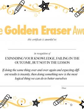 The Golden Eraser Award