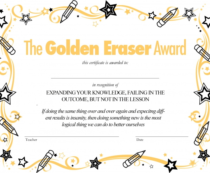 The Golden Eraser Award